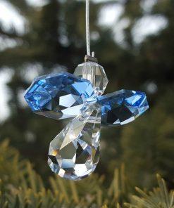 Sapphire Blue Austrian Crystal Guardian Angel