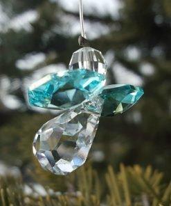 Blue Zircon Austrian Crystal Guardian Angel