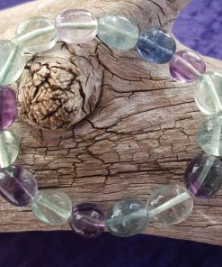 Rainbow Fluorite Stretch Bracelet - Single Bracelet