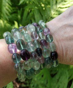 Rainbow Fluorite Stretch Bracelet - Single Bracelet