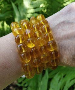 Yellow Fluorite Stretch Bracelet - Single Bracelet