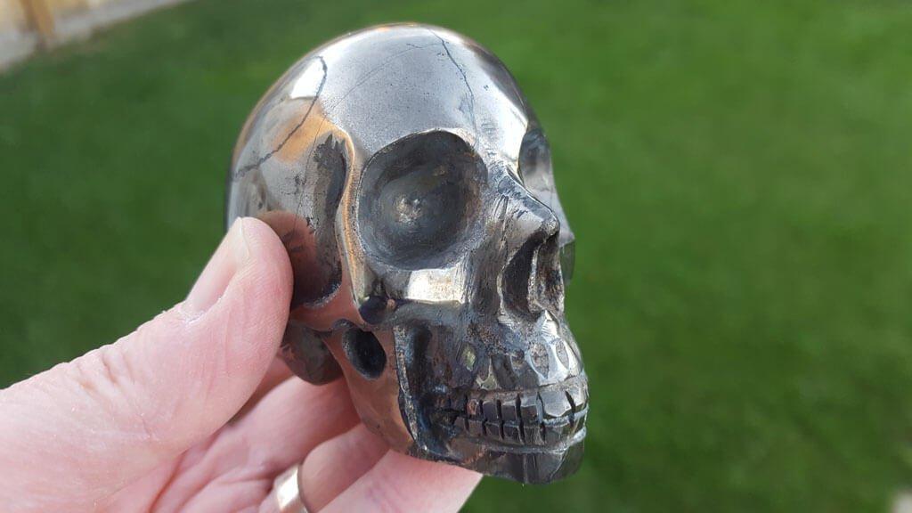Powerful Pyrite Skull