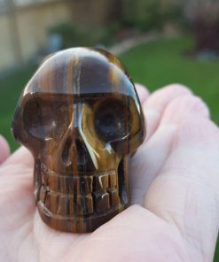 Gold Tiger Eye Skull