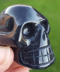Purple Goldstone Skull