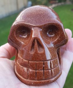 Red Goldstone Skull