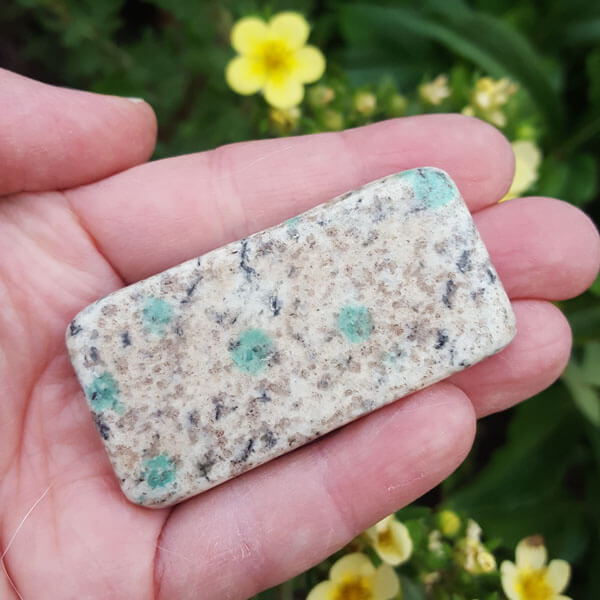K2 Stone With Malachite Polished Crystals Of Atlantis