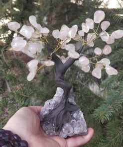 Rose Quartz Gemstone Tree