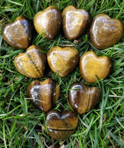 Gold Tiger Eye Heart