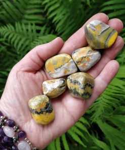 Bumble Bee Jasper Tumbled Stone