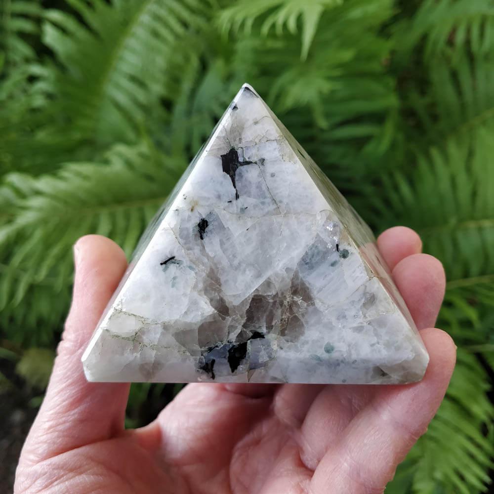 Rainbow Moonstone Pyramid