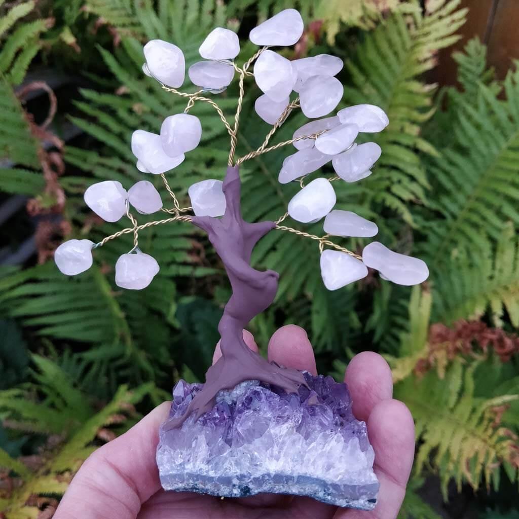 Rose Quartz Gemstone Tree