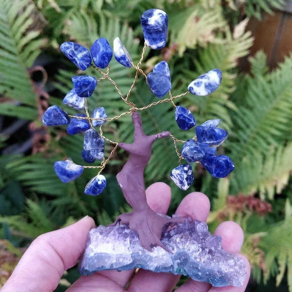 Sodalite Gemstone Tree