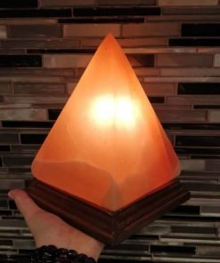 Pyramid Shaped Himalayan Rock Salt Lamp